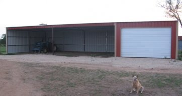 pole barn with garage